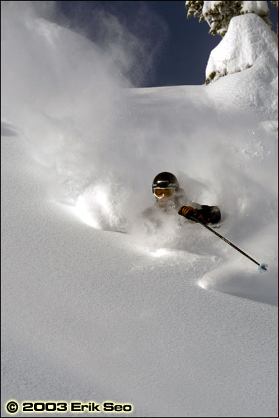 Powder Skiing at Crystal Mountain, WA