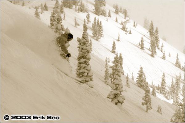 Powder Skiing at Crystal Mountain, WA